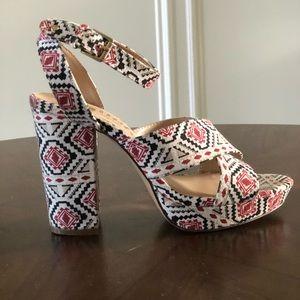 Callisto Aztec Printed Heel